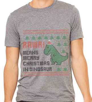 Picture of RAWR! Means Merry Xmas in Dinosaur