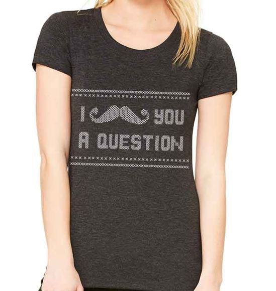 Picture of I Mustache you a Question - Womens